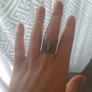 Genuine Silver Butterfly Ring